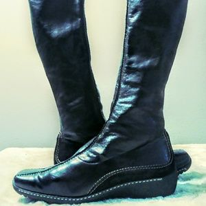 Paul green brown leather boots